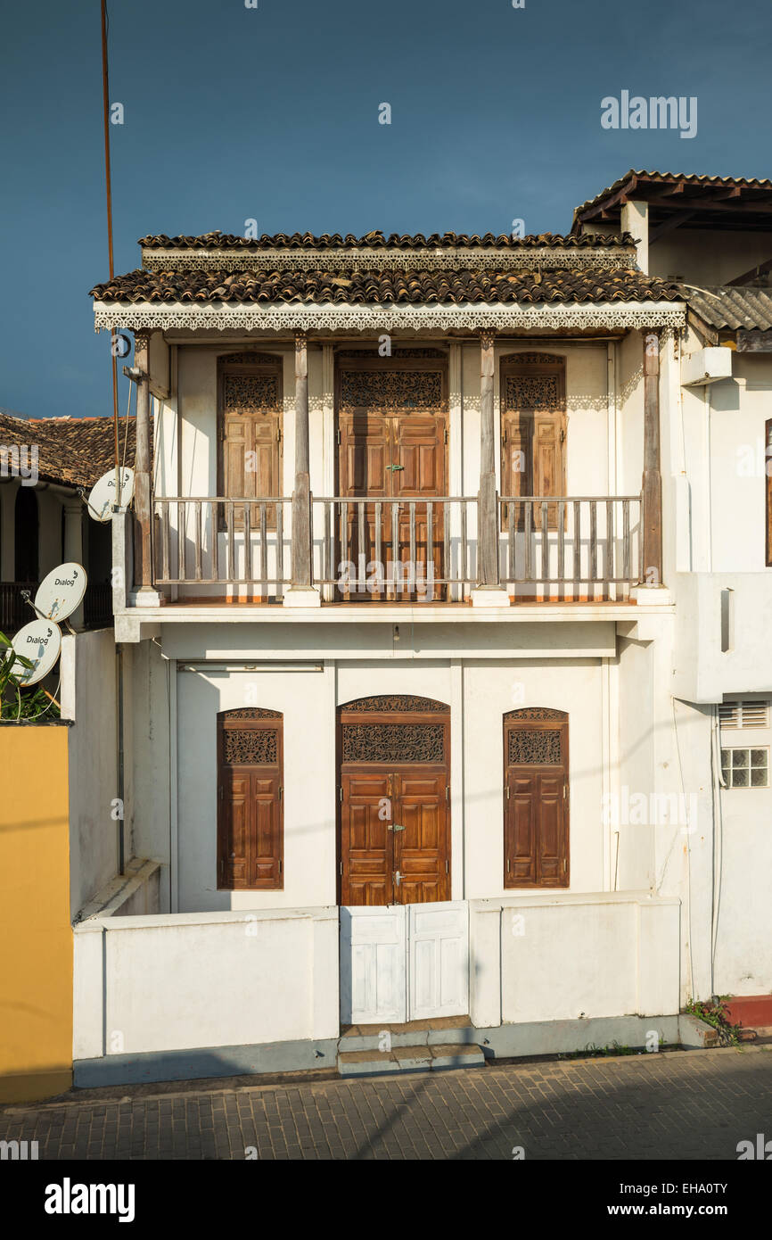 Colonial Houses In Fort Galle Sri Lanka Asia