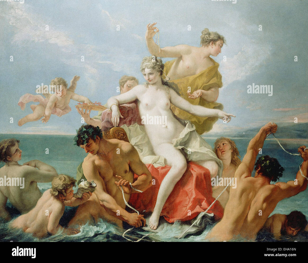 Sebastiano Ricci  Triumph of Marine Venus Stock Photo