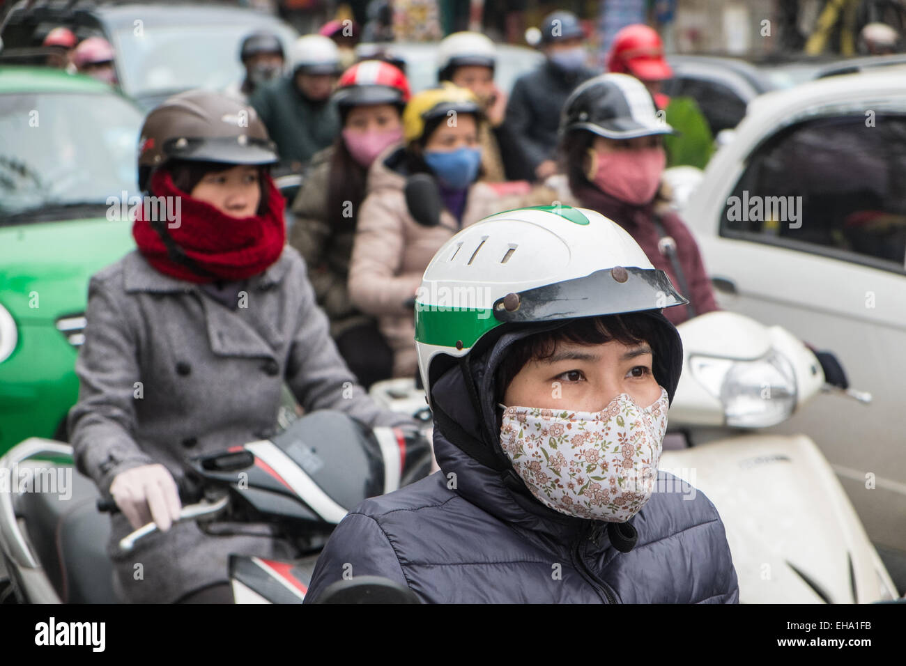 Stock Pollution Photo asian Mask Face Traffic asia face Jam