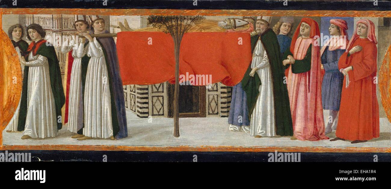 Davide Ghirlandaio (David Bigordi)  The Burial of Saint Zenobius - Stock Image