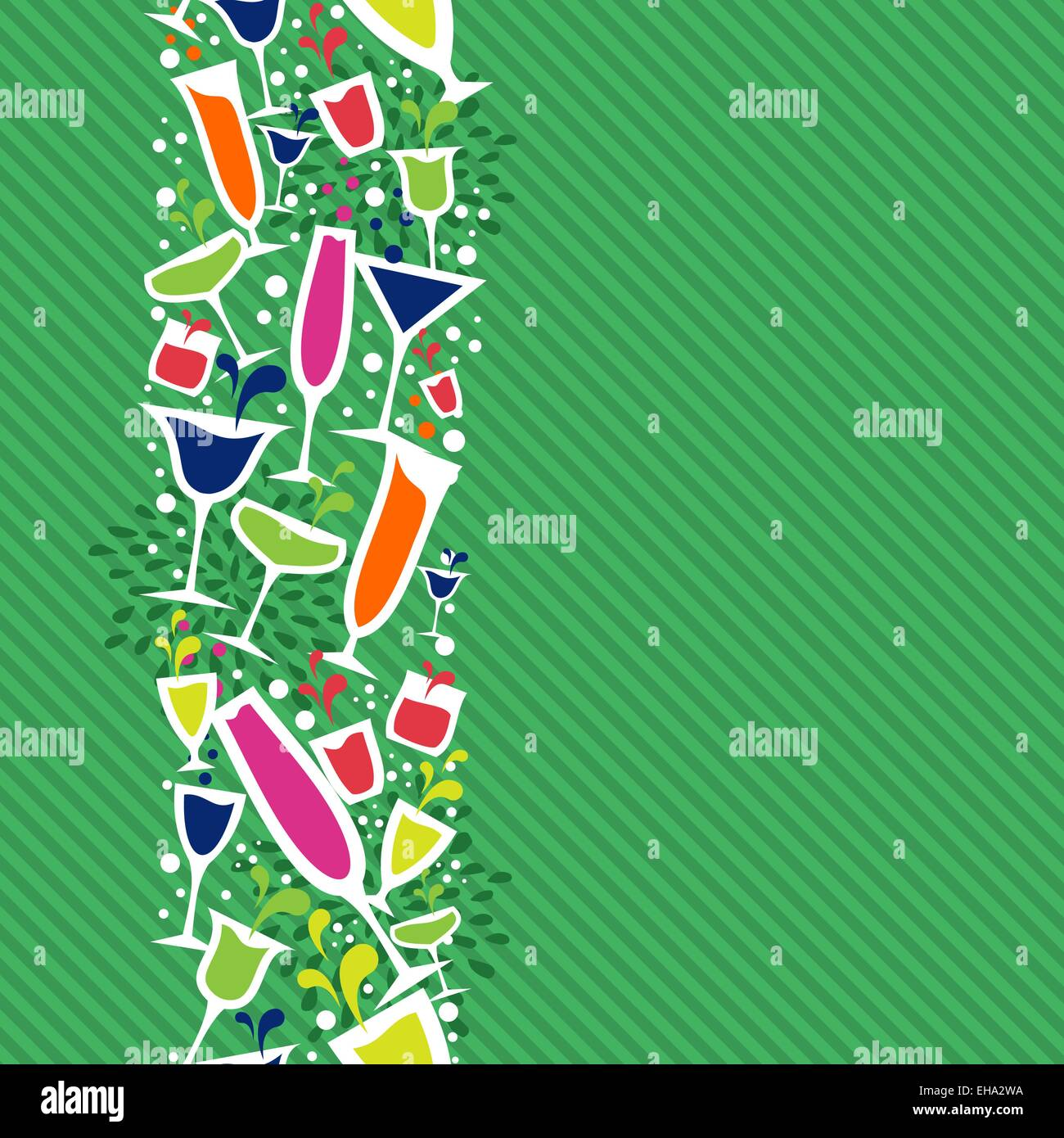 Colorful Cocktail Glass Seamless Pattern Background Ideas For Stock Vector Image Art Alamy