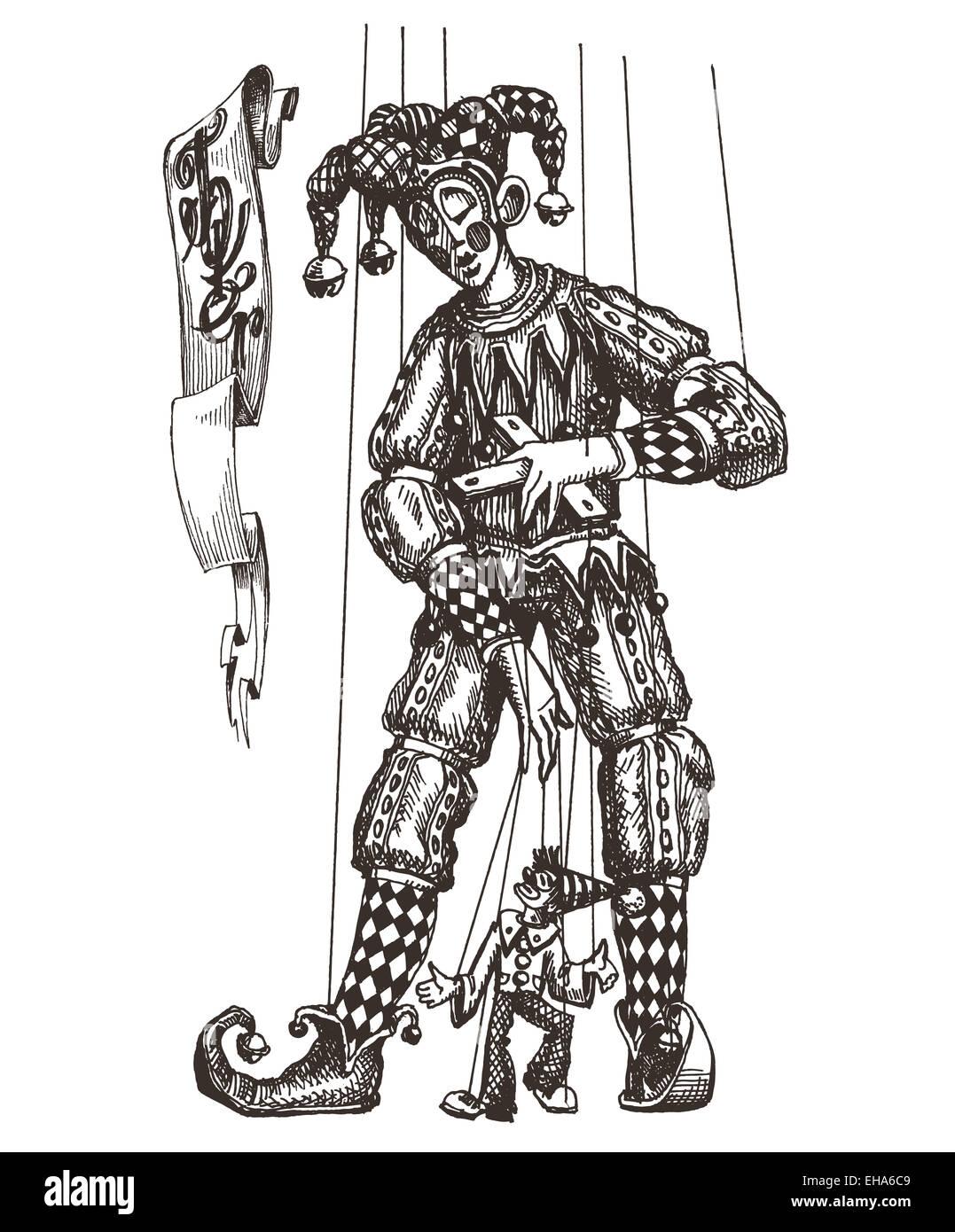 joker vector logo design template. circus or puppet theatre icon ...