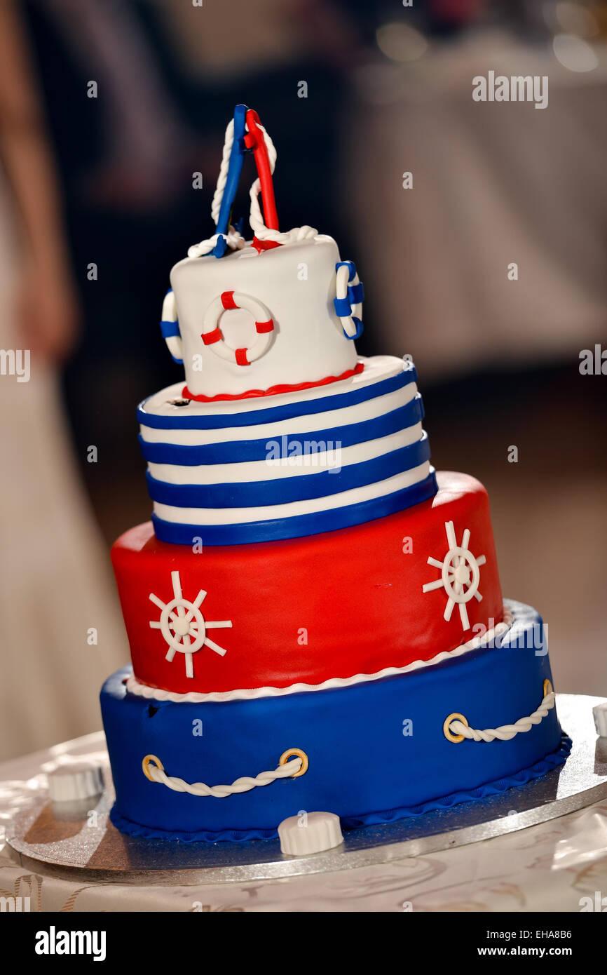 Peachy Navy Birthday Cake Stock Photos Navy Birthday Cake Stock Images Funny Birthday Cards Online Fluifree Goldxyz