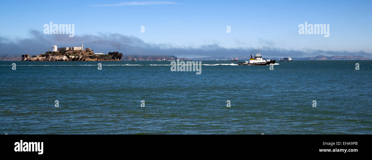 Closed as a prison now only open for tourists it's Alcatraz - Stock Image