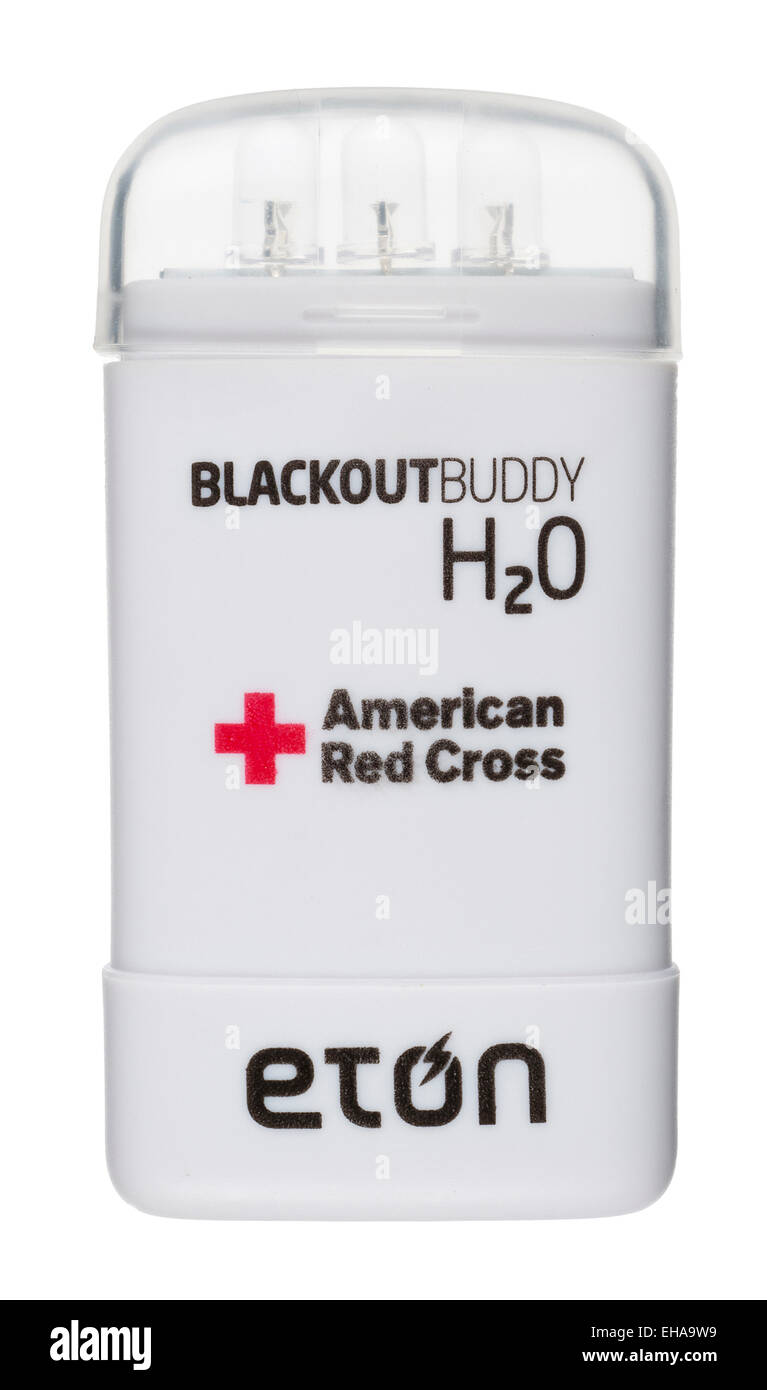 Eton Blackout buddy. Small LED emergency light that activates in water. American Red Cross brand partner. - Stock Image