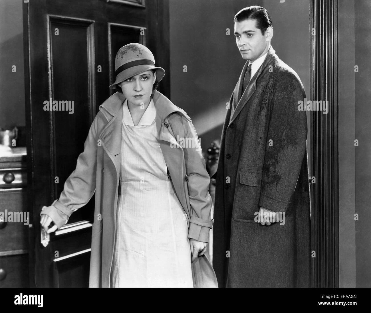 Clark Gable, Norma Shearer, on-set of the Film 'Strange Interlude', 1932 - Stock Image