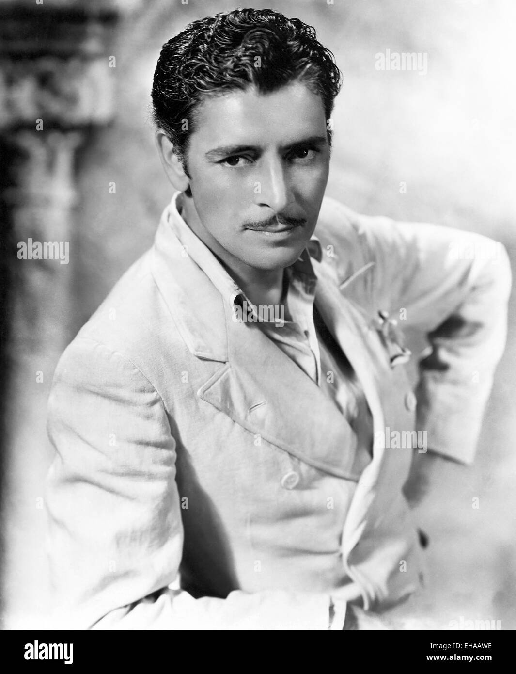 Ronald Colman, on-set of the Film 'The Unholy Garden', 1931 - Stock Image