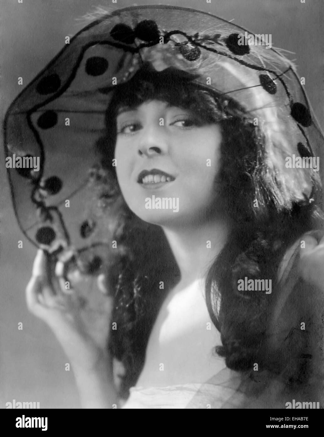 Colleen Moore, Smiling Portrait, circa late 1910's - Stock Image