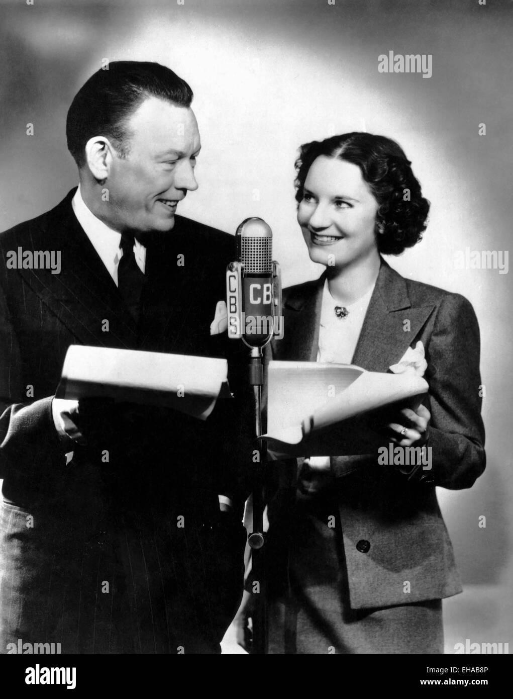 Fred Allen, Portland Hoffa, Publicity Portrait, circa mid-1930's - Stock Image