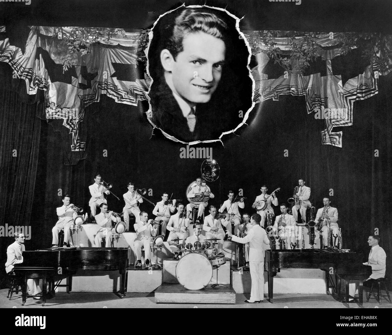 Fred Waring and His Pennsylvanians, Portrait, circa 1920's - Stock Image