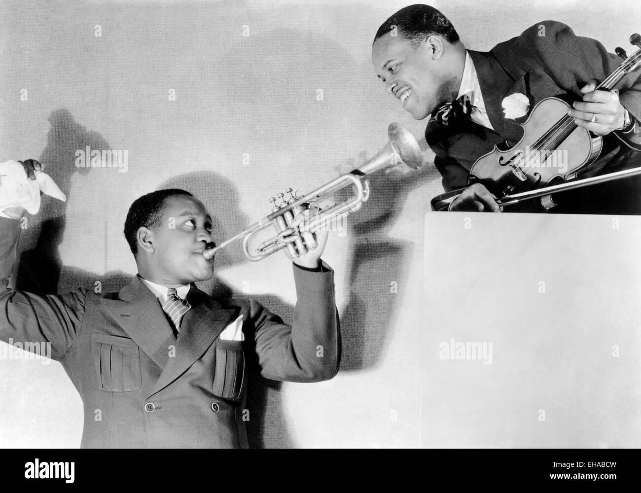 Leo 'Stuff' Smith, (right), Portrait circa 1930's - Stock Image