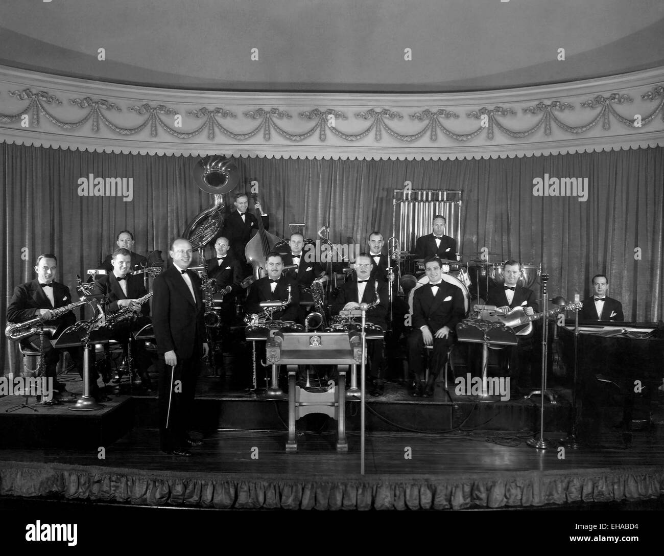 Ted Weems and his Orchestra, Portrait, circa 1930's - Stock Image