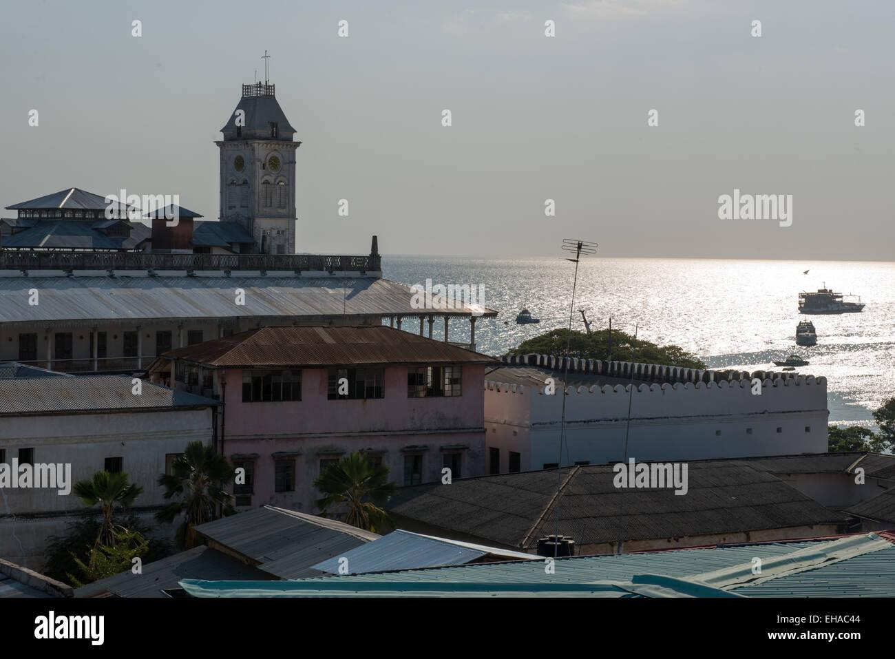 Zanzibar, Stone Town, Sunset  Over House of Wonders - Stock Image