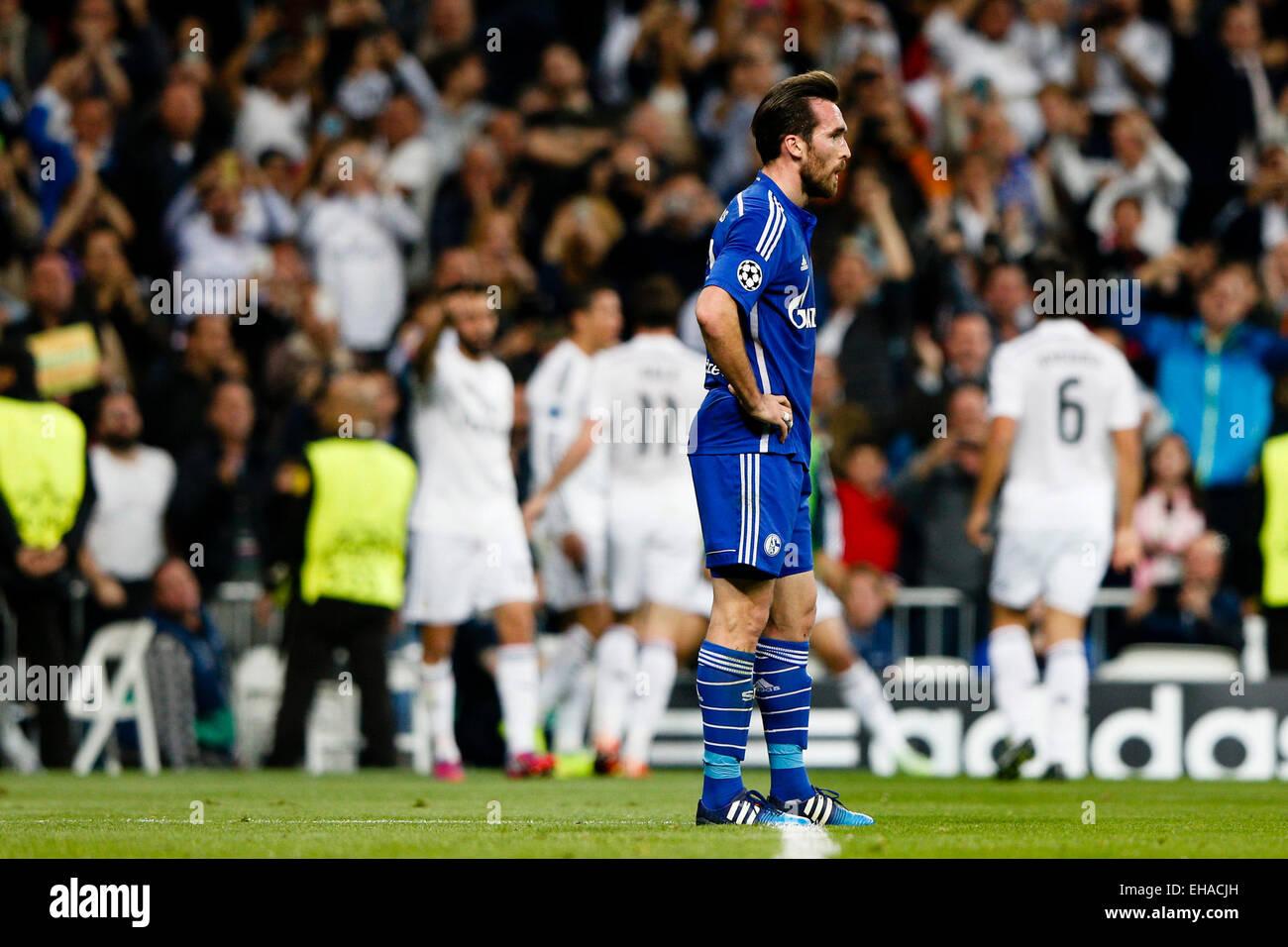 Madrid, Spain. 10th March, 2015. EUFA Champions League football. Real Madrid versus FC Schalke. 7 Cristiano Ronaldo - Stock Image