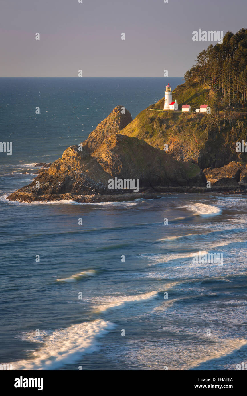 Heceta Head Lighthouse along the Oregon Coast, USA - Stock Image