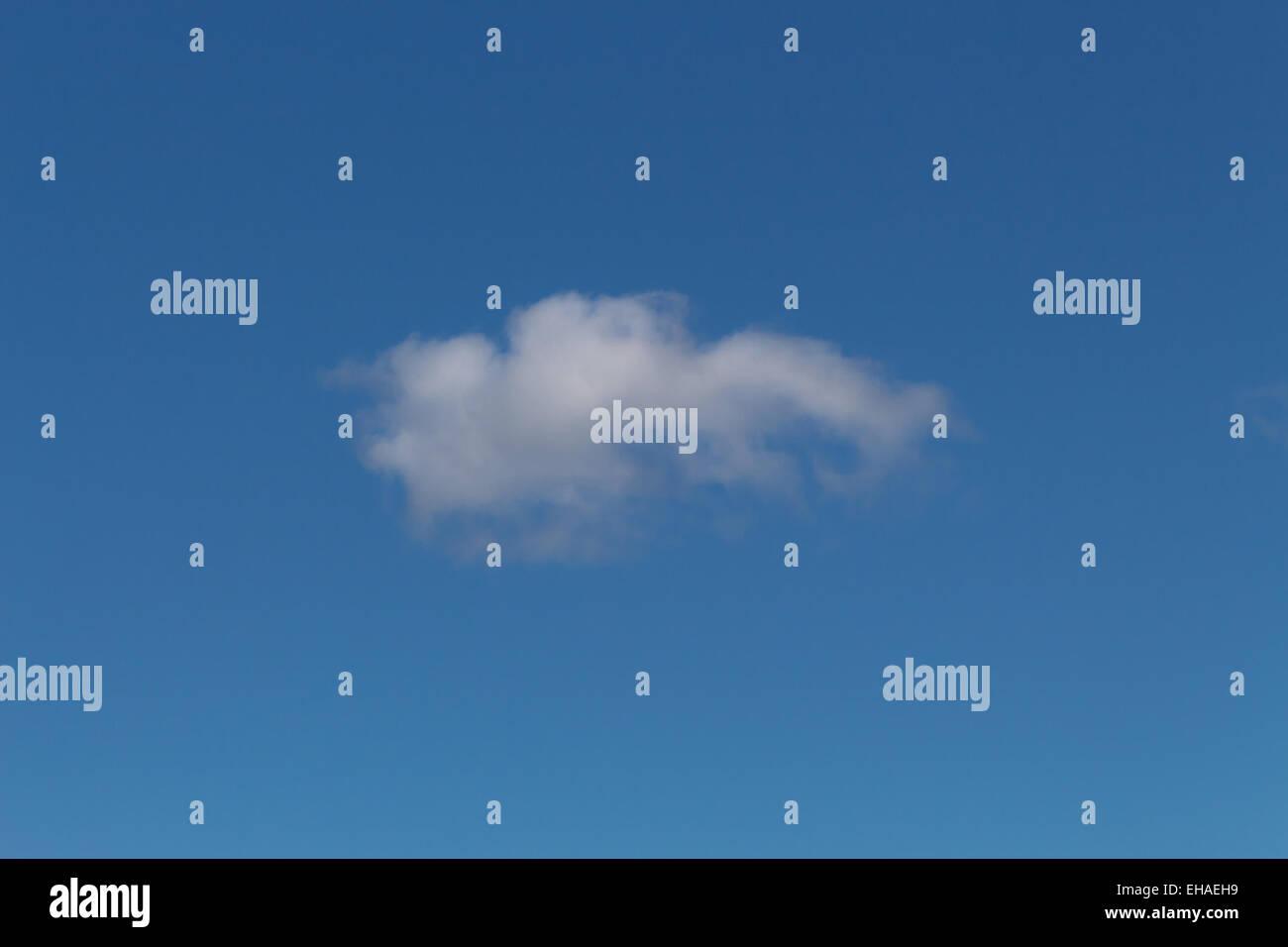 single cloud int the sky - Stock Image