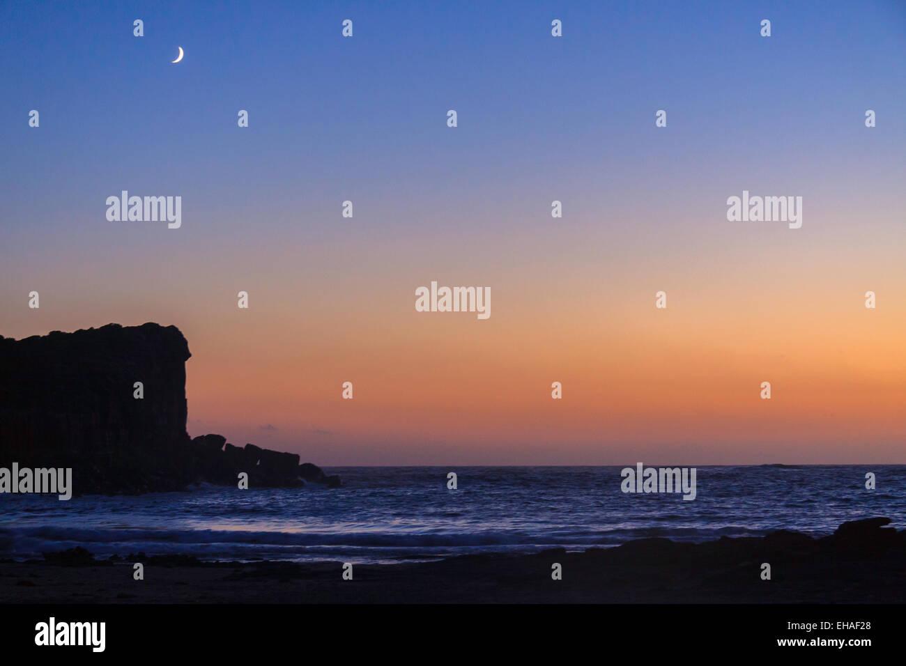 Sardinian sunset / blue hour - Stock Image