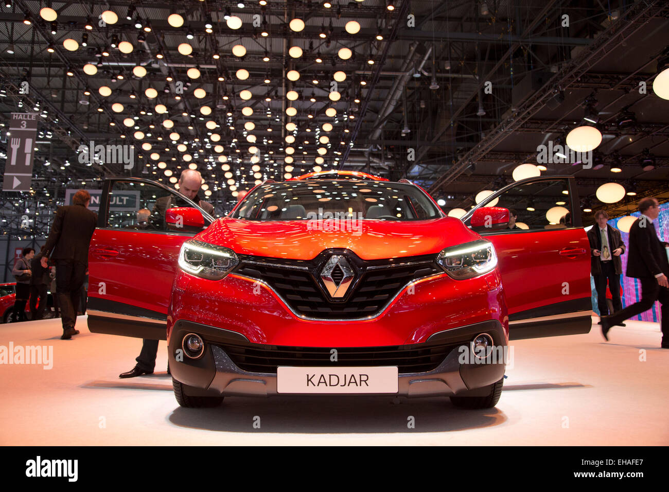 Renault Kadjar At The Geneva Motor Show 2015 Stock Photo Alamy