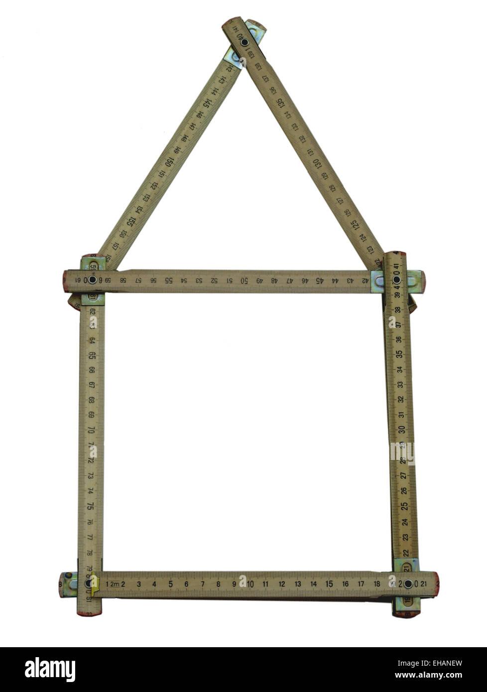 Zollstockhaus / folding metre stick - Stock Image