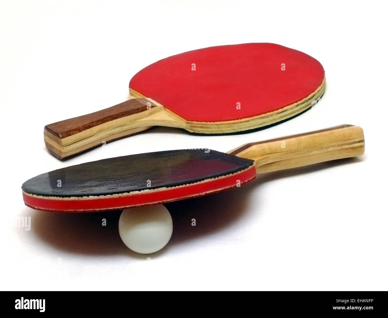 Tischtennis / table tennis rackets - Stock Image