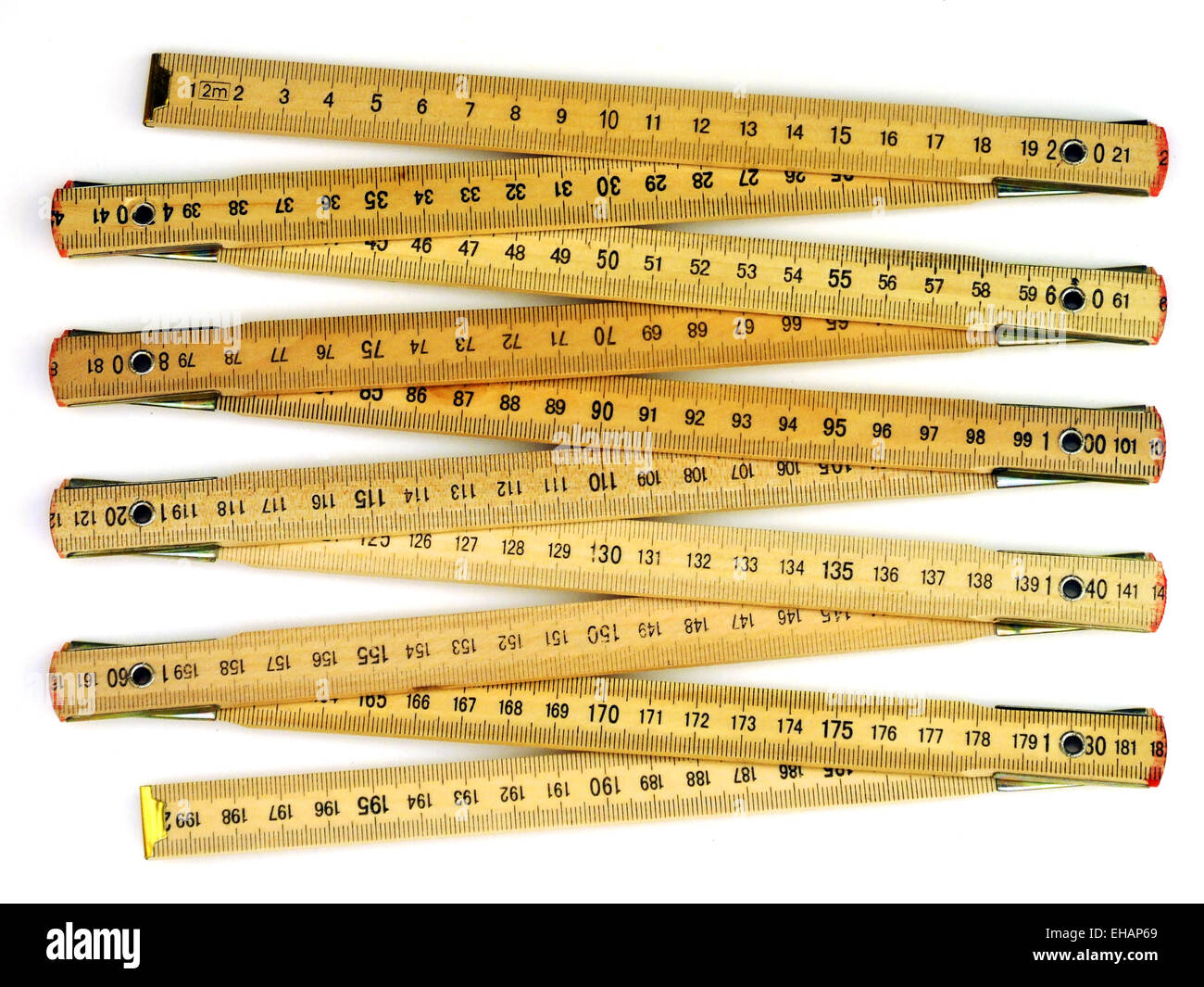Zollstock / folding meter stick - Stock Image