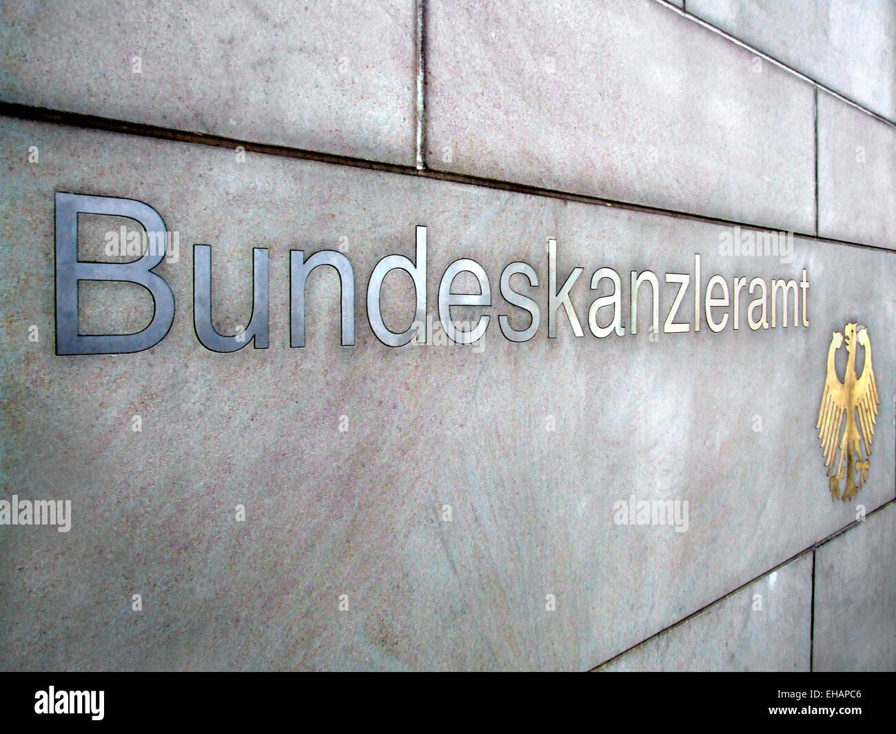 Bundeskanzleramt / federal chancellery Stock Photo