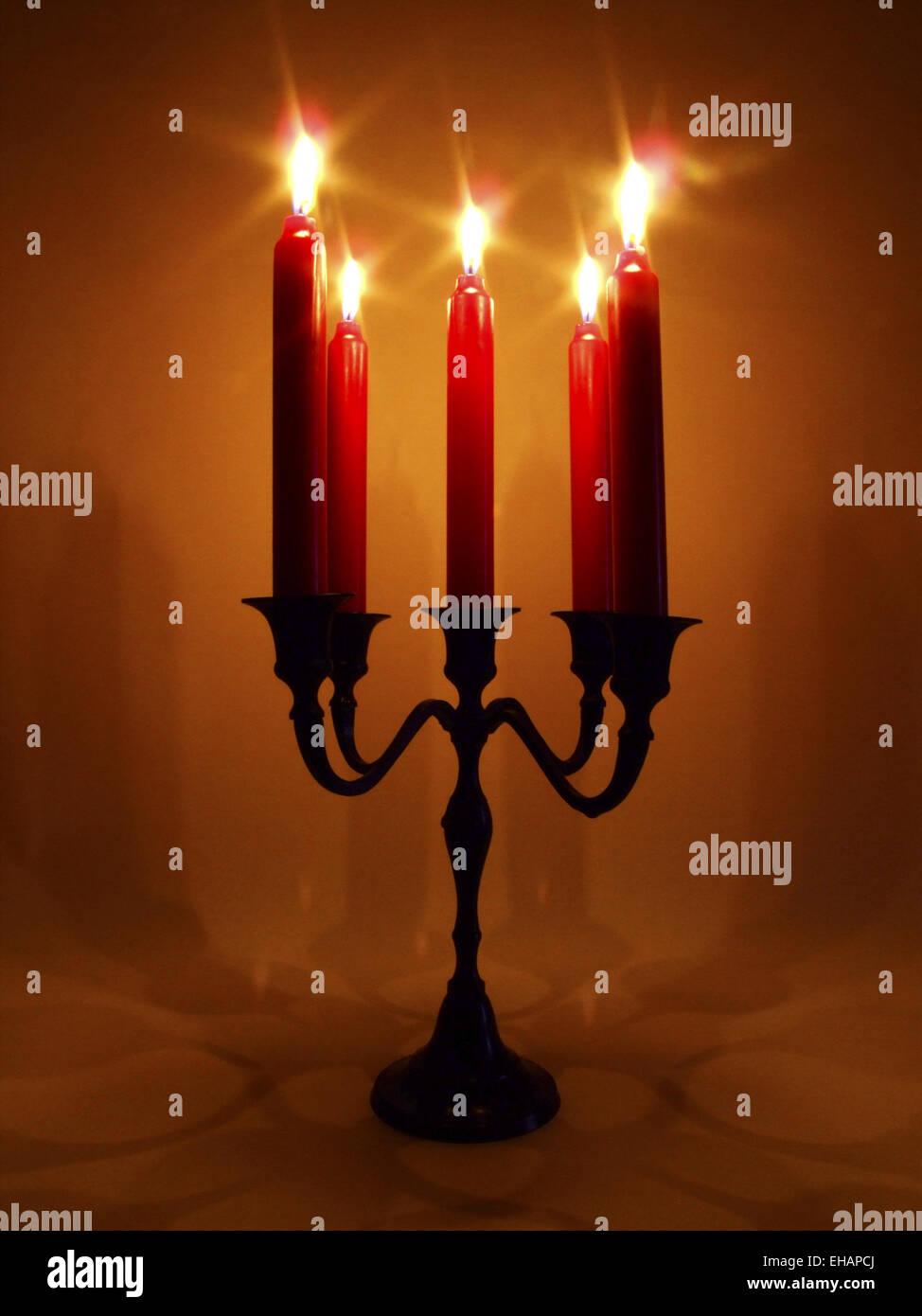 brennende Kerzen / candles - Stock Image