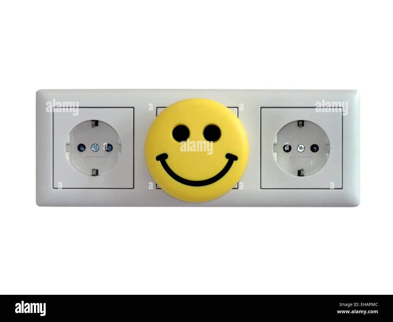 Steckdosen / electric sockets Stock Photo