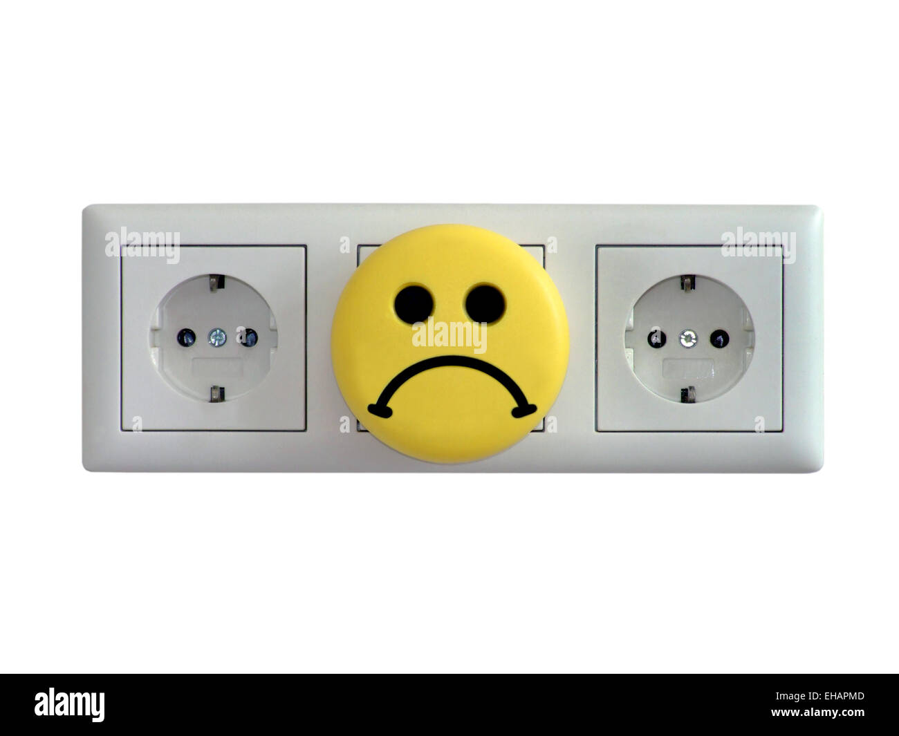 Steckdosen / electric sockets Stock Photo