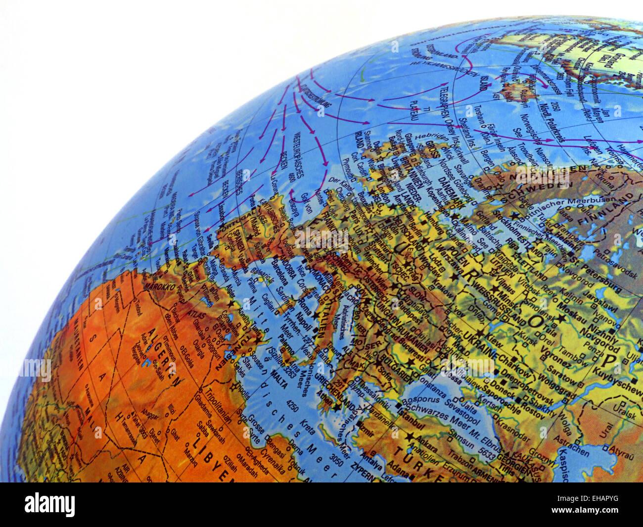 Globus Karte.Globus Karte Stock Photos Globus Karte Stock Images Alamy