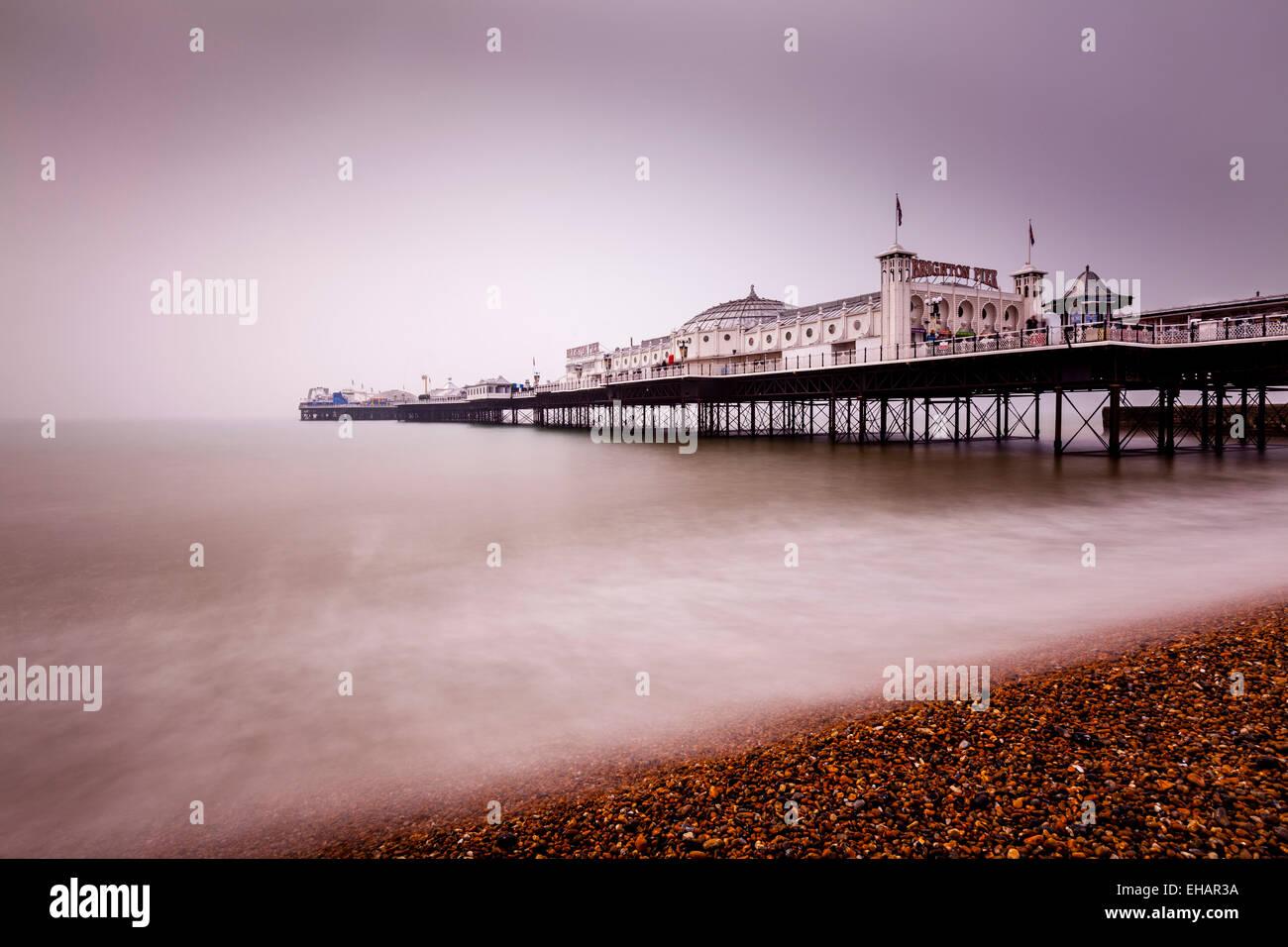Brighton Pier, Brighton, Sussex, England. - Stock Image