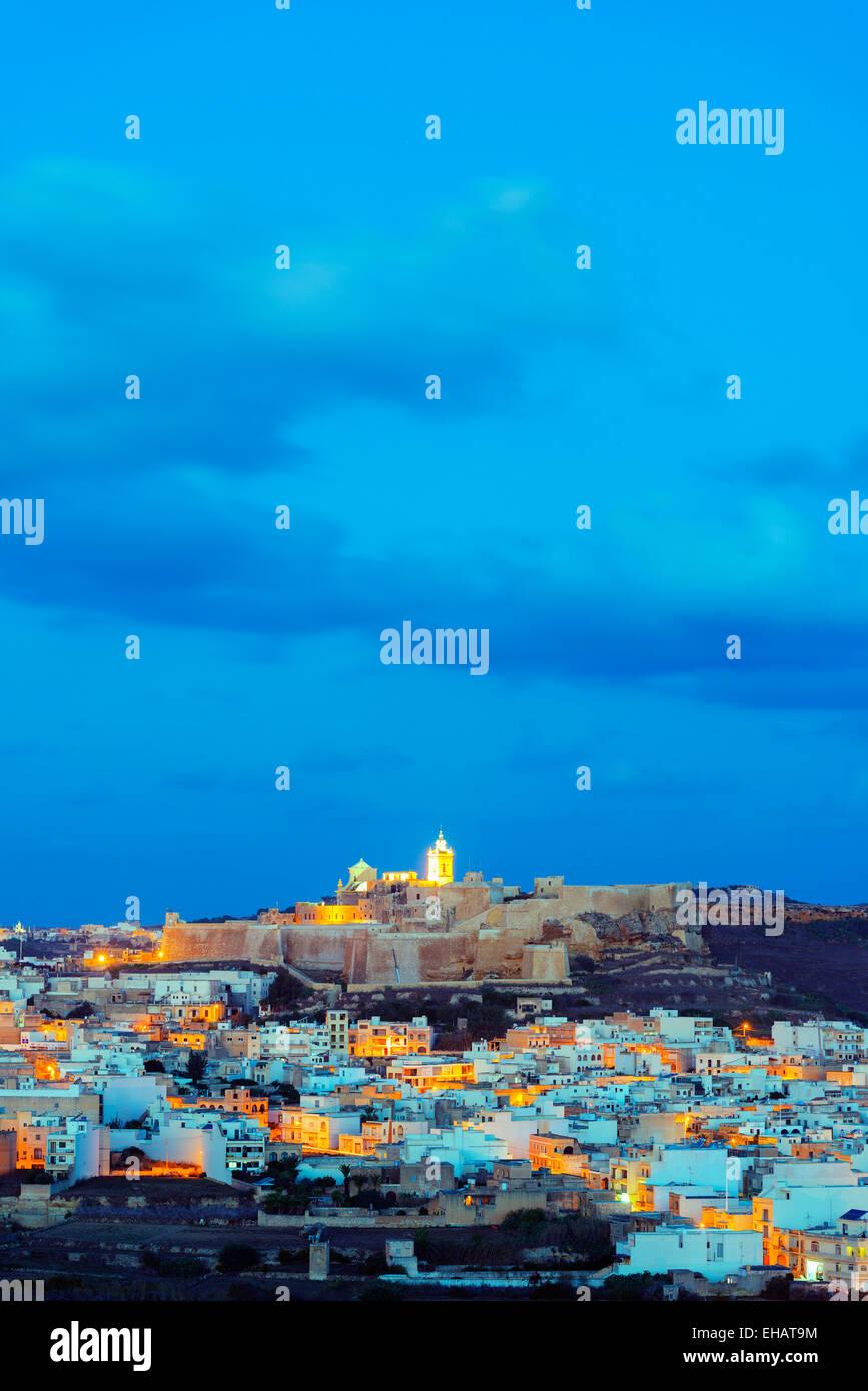 Mediterranean Europe, Malta, Gozo Island, Victoria (Rabat), Il-Kastell citadel fortress - Stock Image
