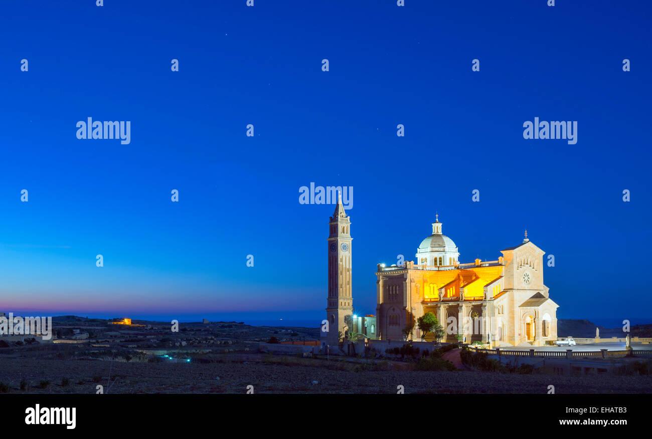 Mediterranean Europe, Malta, Gozo Island, Basilica of Ta'Pinu - Stock Image