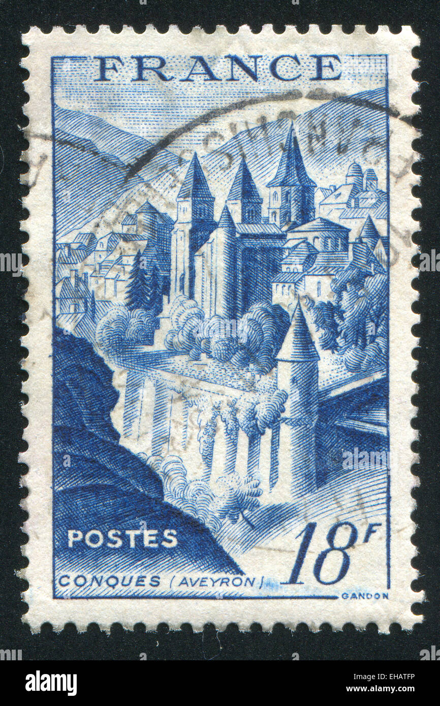 View of Conques - Stock Image