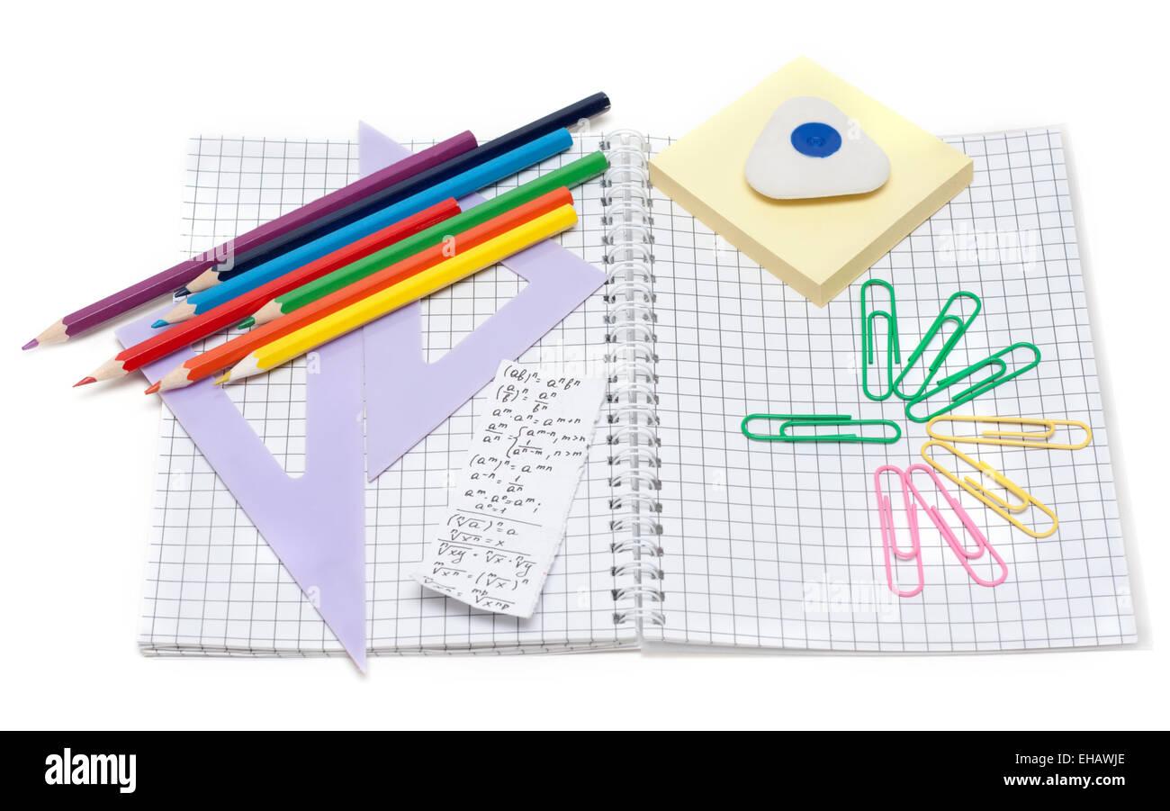 School accesories - Stock Image