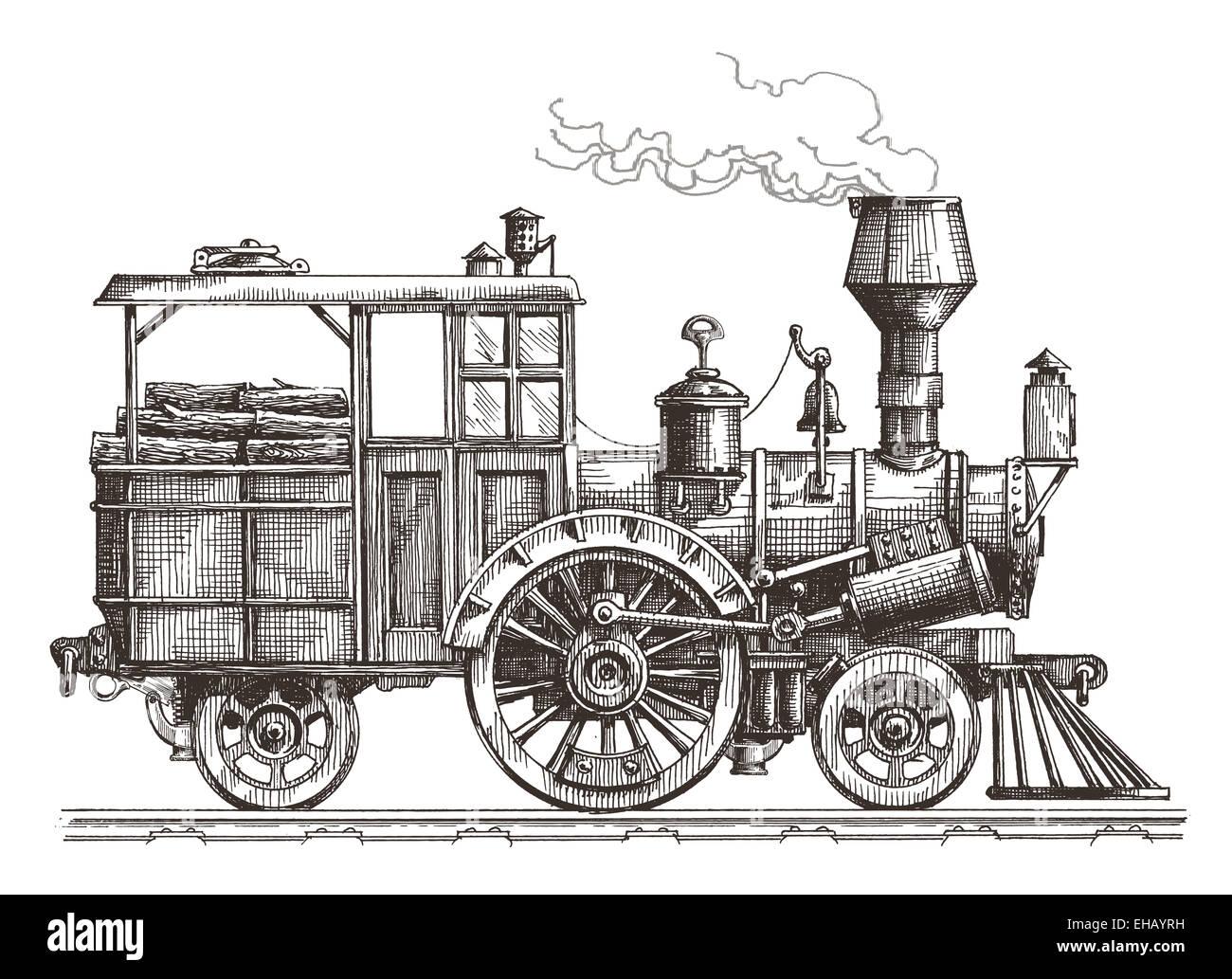 steam locomotive vector logo design template train or transport