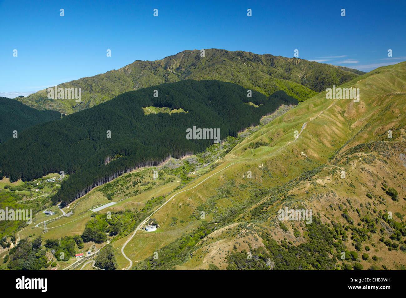 Transmission Gully, proposed motorway route, Paekakariki, Kapiti Coast, north of Wellington, North Island, New Zealand; - Stock Image