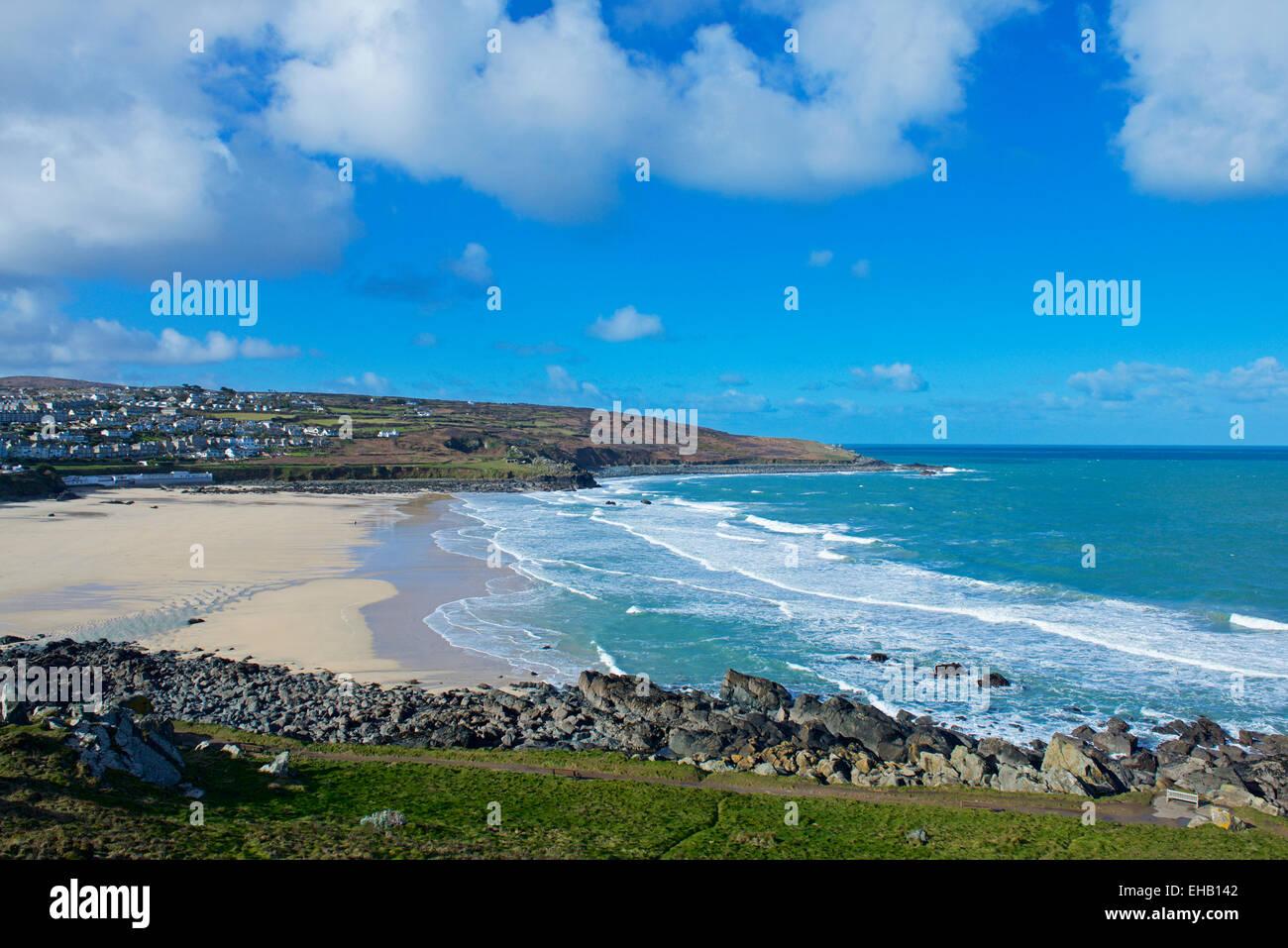 Beach at Newquay, Cornwall, England UK - Stock Image