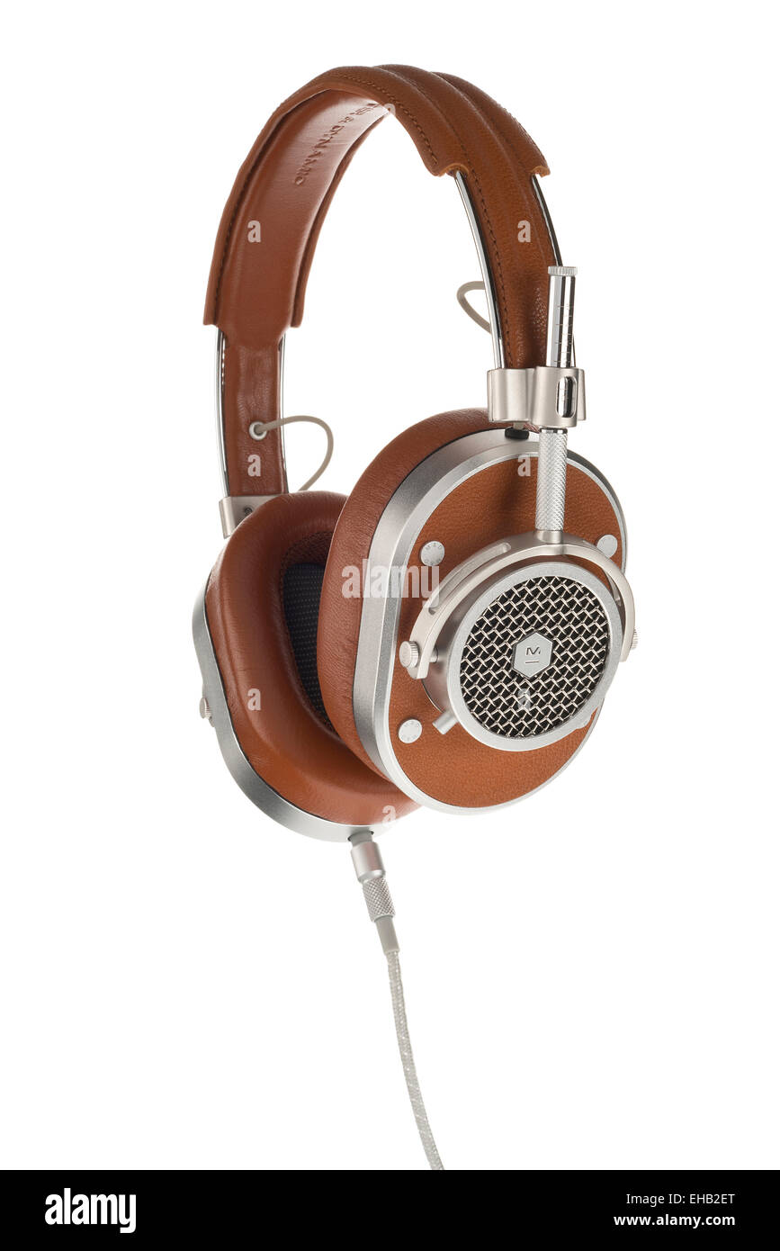 Master & Dynamic headphones - Stock Image