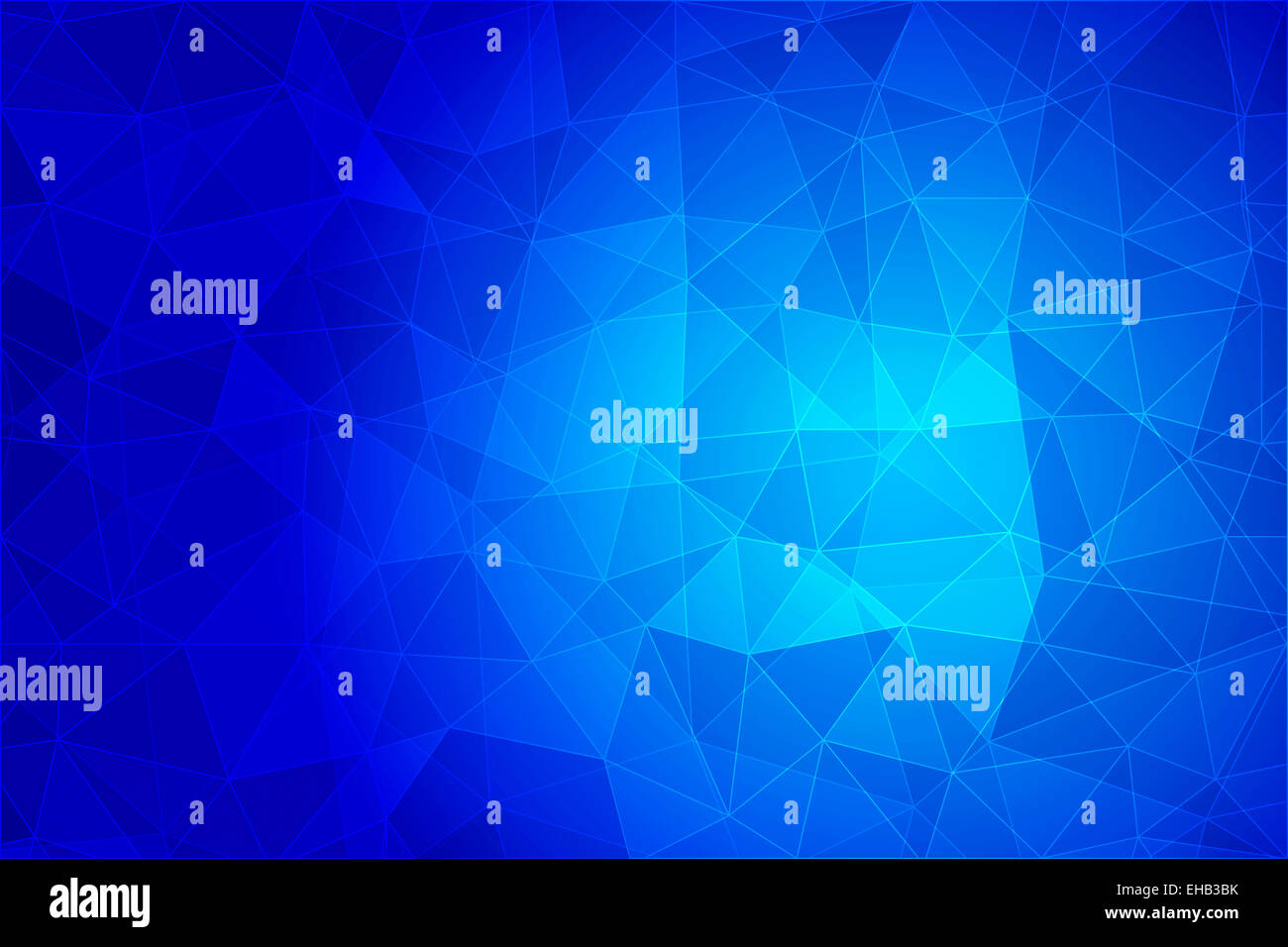 Abstract geometric background with triangular polygons, low poly style illustration - Stock Image