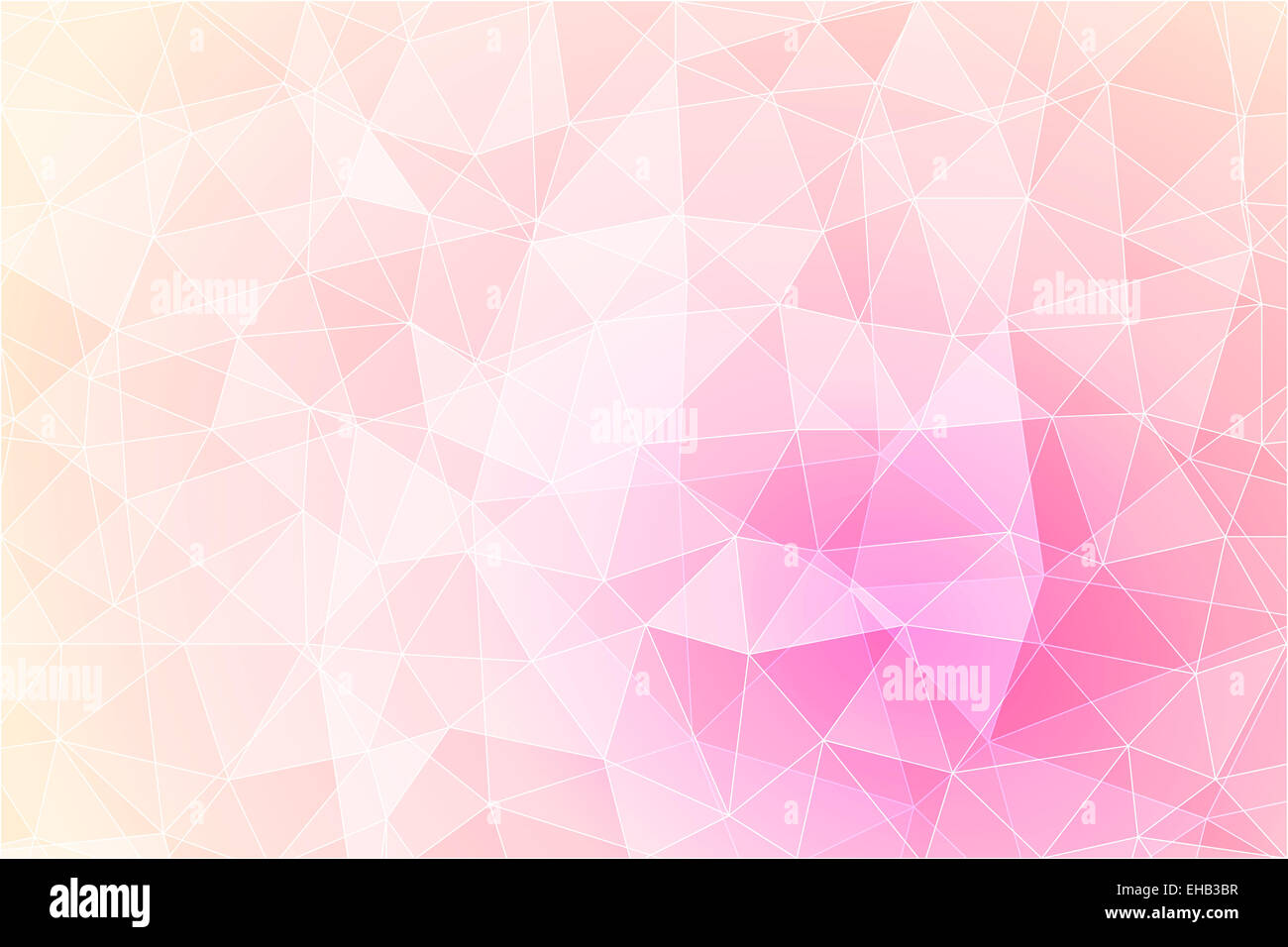 Abstract geometric pink background with triangular polygons, low poly style illustration - Stock Image