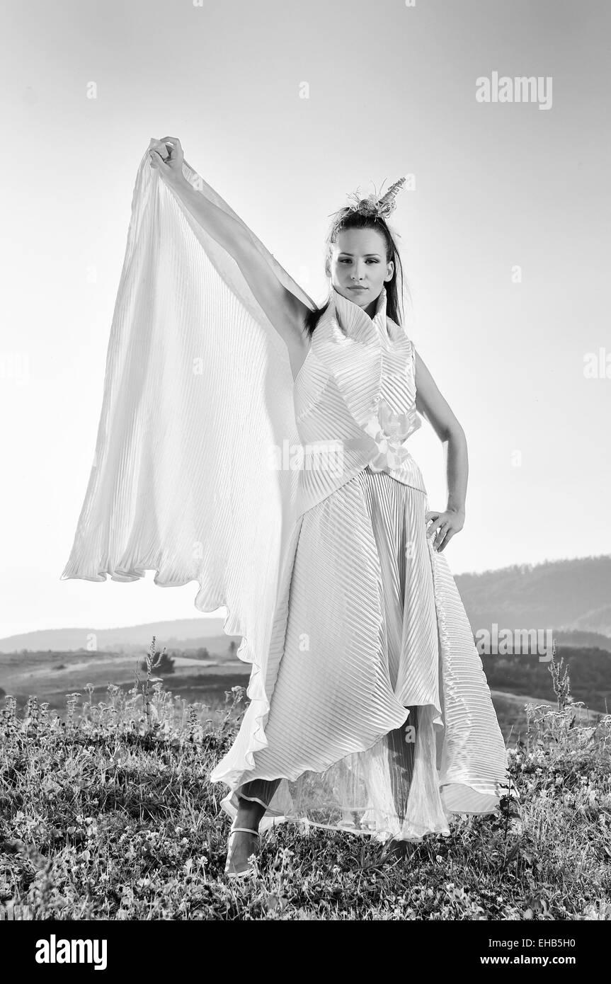bride outdoor ;) - Stock Image