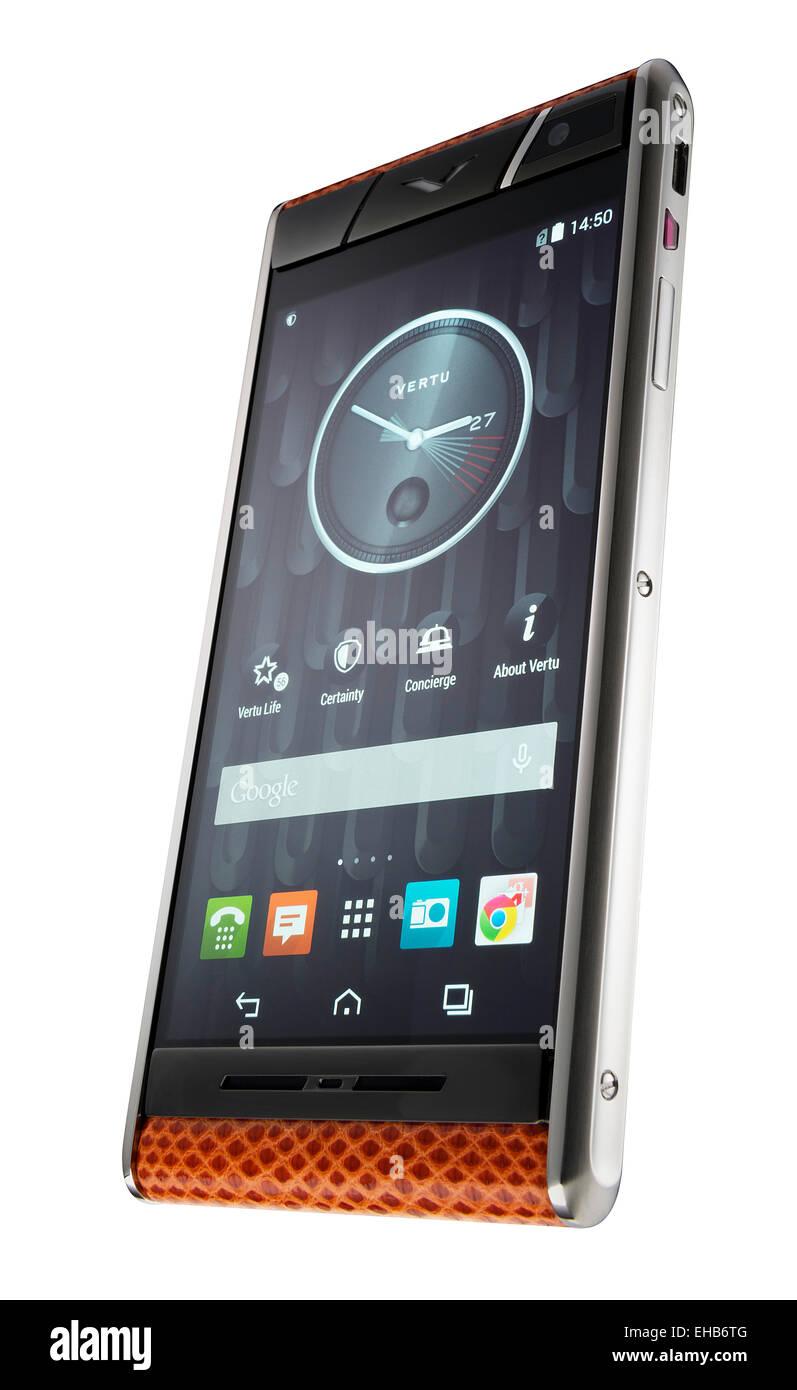 Vertu smartphone - Stock Image
