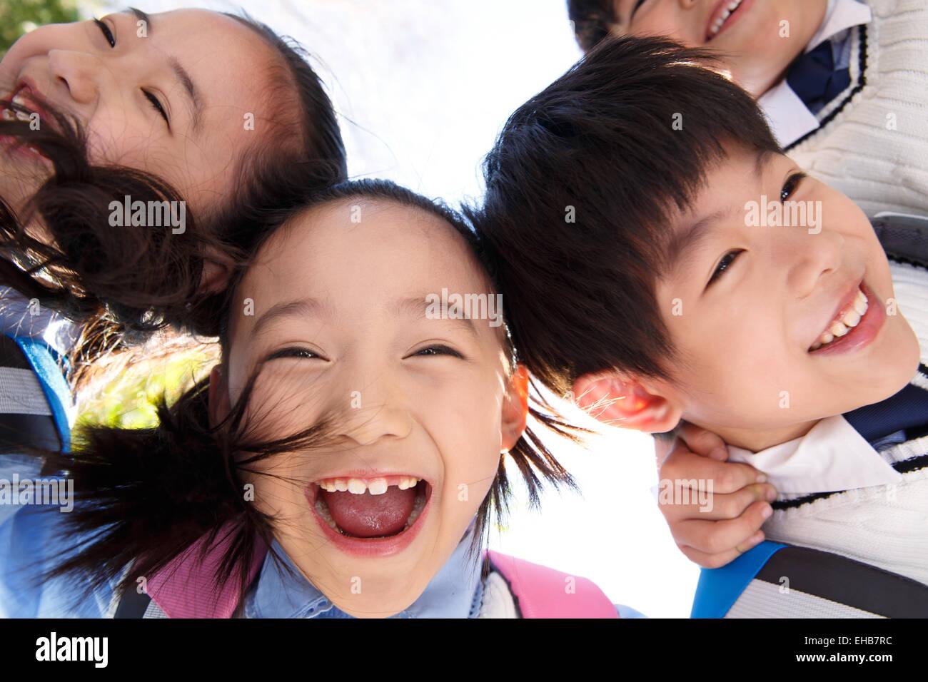 Innocent schoolchildren - Stock Image