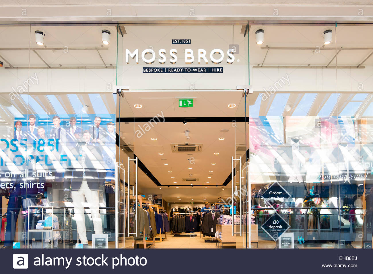 Moss Bros Store Cribbs Causeway Near Bristol Uk Stock Photo