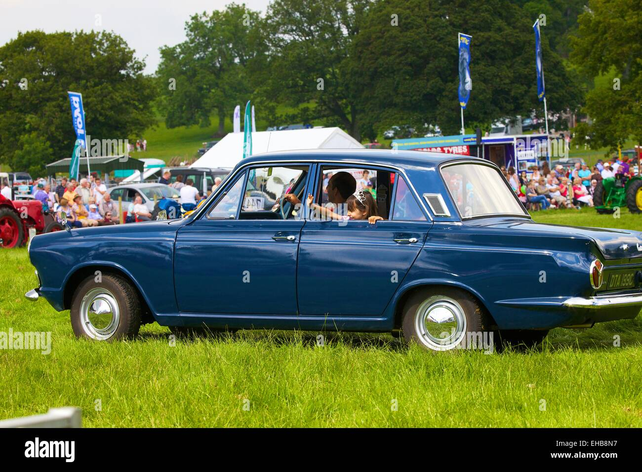 Ford Cortina Mark I classic car. Skelton Show Cumbria, England, UK ...