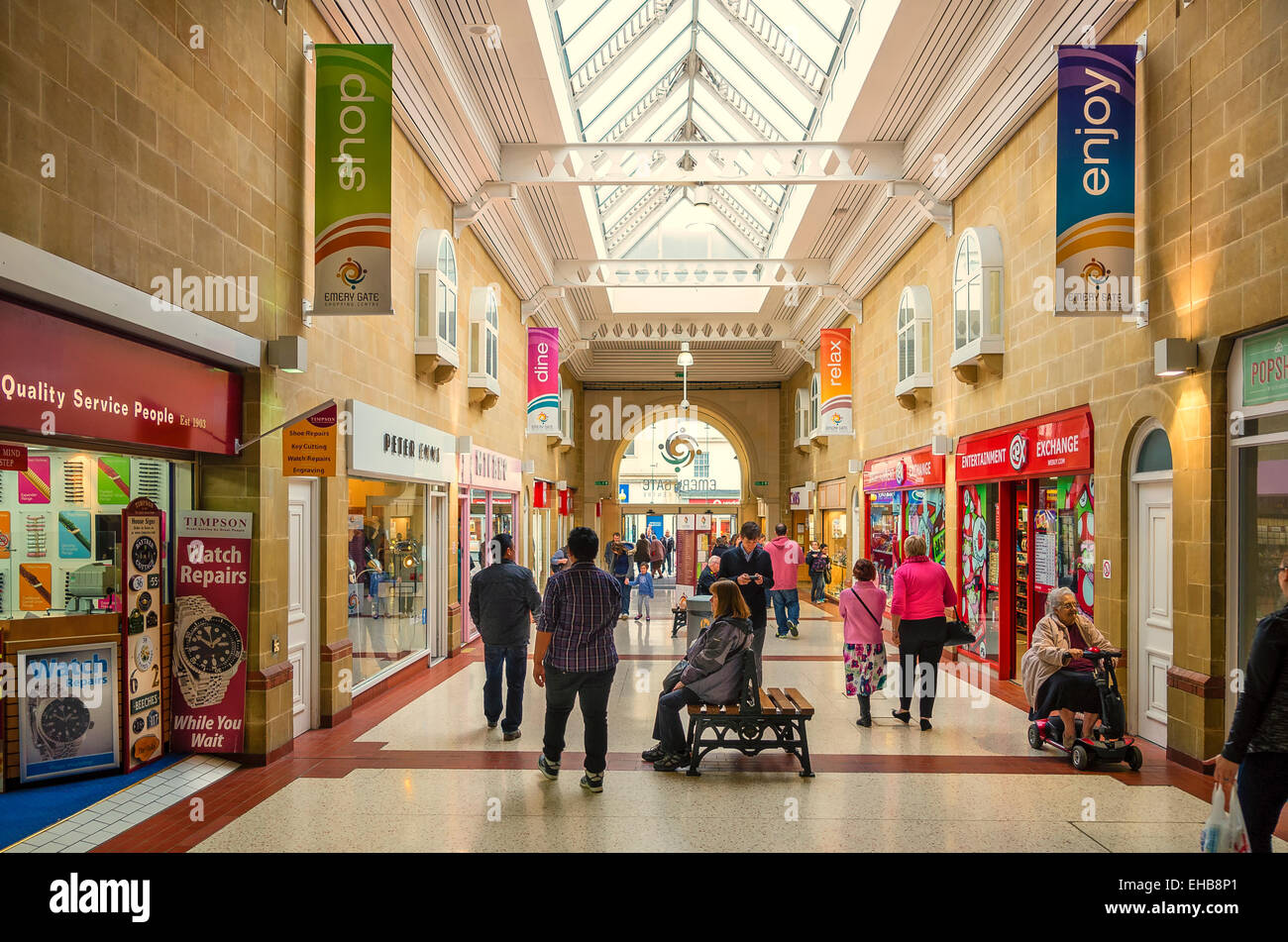 Emery Gate Shopping Centre in Chippenham town Wiltshire UK - Stock Image