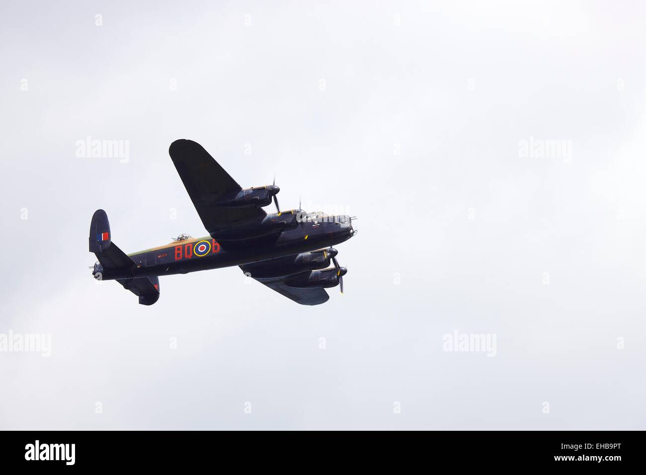 Battle of Britain Memorial Flight. Avro Lancaster B1 Bomber. Windermere Air Show 2011, Cumbria, UK. - Stock Image
