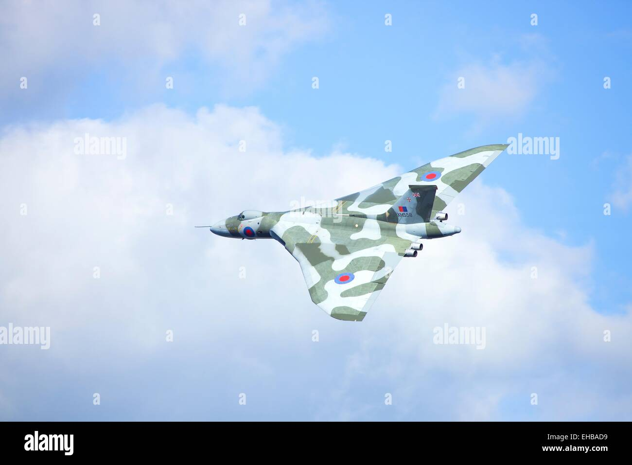 Avro Vulcan Bomber XH558 The Spirit of Great Britain, flying at Windermere Air Show 2011, Cumbria, UK. - Stock Image