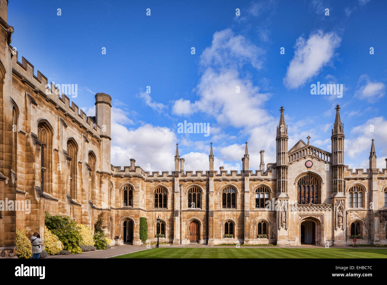 New Court, Corpus Christi College, Cambridge. - Stock Image